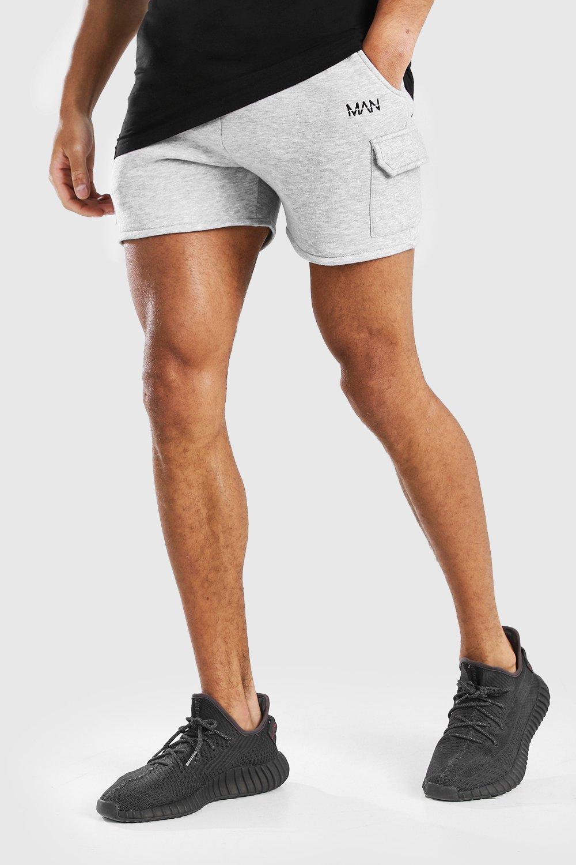 mens original man short length cargo short - grey