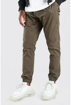 Khaki Shell Jogger With Cuffs