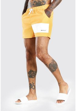 Orange MAN Official Panel Mid Length Swimshort