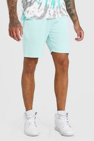 Green BASIC MID LENGTH JERSEY SHORT