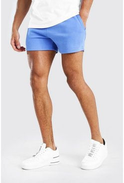 Cornflower blue BASIC SHORT LENGTH JERSEY SHORT