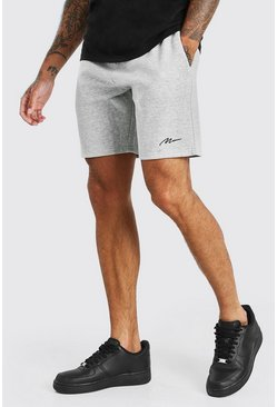 Grey MAN SIGNATURE MID LENGTH SHORT