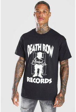 Black Deathrow Front Print License T-Shirt