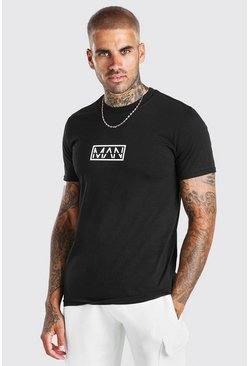 Original MAN Box Print T-Shirt, Black