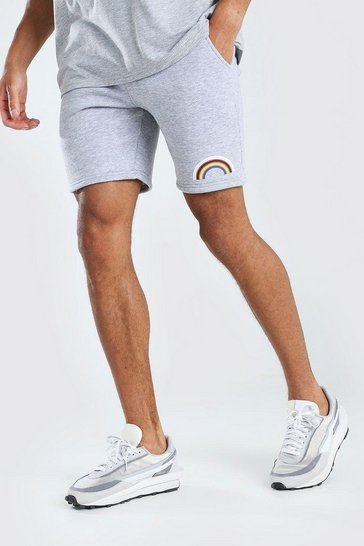 Grey marl Pride Rainbow Print Short