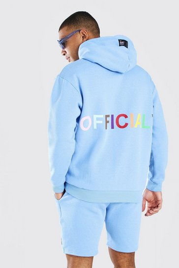 Blue Pride Love is for Everyone Oversized Hoodie