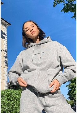 Grey marl Pride Love is for Everyone Oversized Hoodie