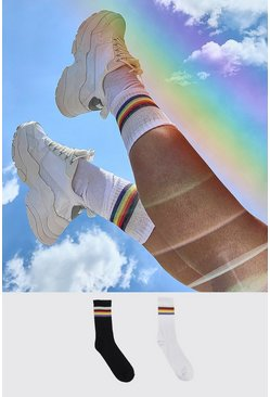 Multi Pride 2pk Rainbow Sport Sock