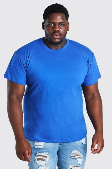 Blue Big And Tall Basic Crew Neck T-Shirt