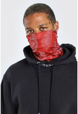 Red Bandana Print Snood
