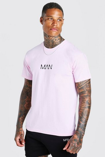 Pale pink Original MAN Print T-Shirt