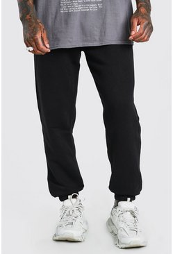Black Basic Loose Fit Jogger