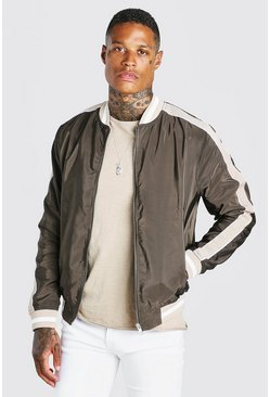 Khaki Side Tape Bomber