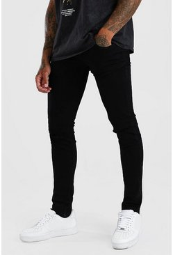 Skinny Jeans With Ripped Knee, Black