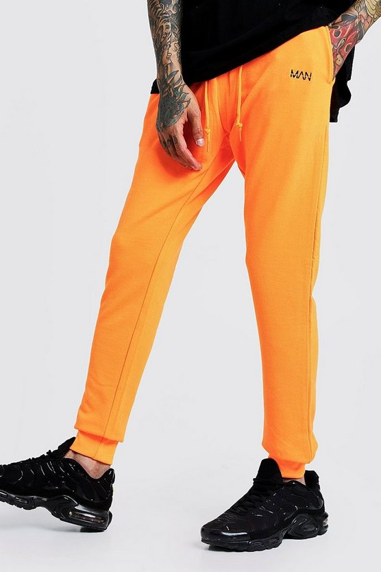 Herr Neon-orange Original MAN Slim Fit Neon Jogger