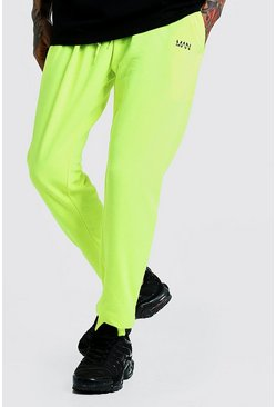 Original MAN Slim Fit Neon Jogger, Neon-yellow, HERREN