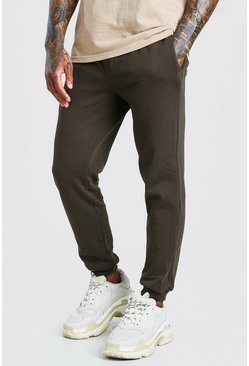 Khaki Basic Slim Fit Jogger