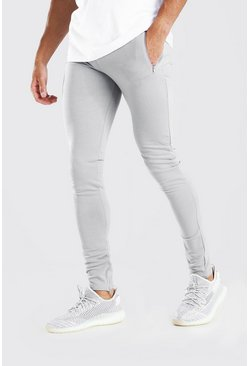 Light grey Skinny Fit Jogger With Ankle Zips