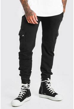 Black Skinny Fit Jogger With Popper Pockets