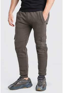 Olive Skinny Fit Jogger With Popper Pockets