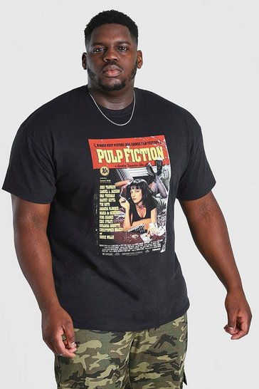 Black Big And Tall Pulp Fiction License T-Shirt