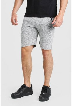 Shorts mi-longs en jersey MAN, Gris