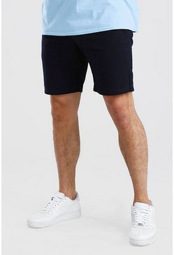 Navy Skinny Fit Chino Short