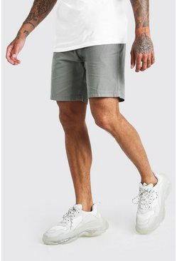 Green Skinny Fit Chino Short