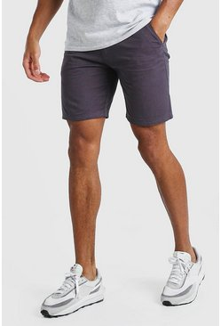 Dark grey Skinny Fit Chino Short
