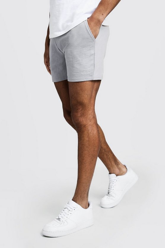 Short Man court en jersey original, Cendre, Homme