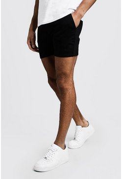 Mens Black Original MAN Short Length Jersey Shorts
