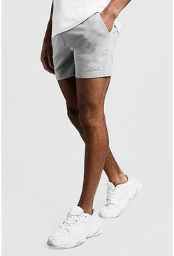 Mens Light grey MAN Signature Short Length Jersey Shorts