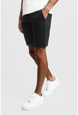 MAN Signature Mid Length Jersey Shorts, Black, Uomo