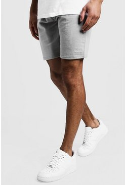 Original MAN Mid Length Jersey Shorts, Ash, Uomo