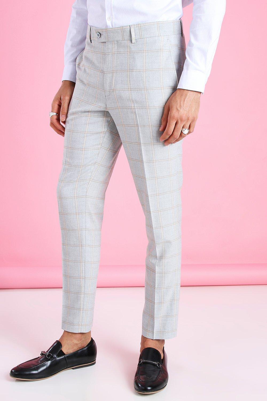 60s – 70s Mens Bell Bottom Jeans, Flares, Disco Pants Mens Skinny Smart Flannel Pants - Grey $14.00 AT vintagedancer.com