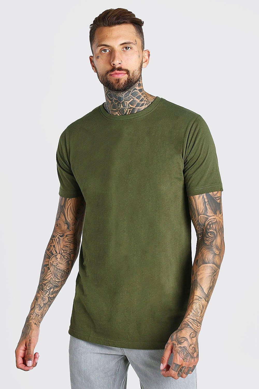 mens longline t-shirt - green