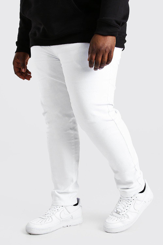 mens plus size skinny fit jean - white