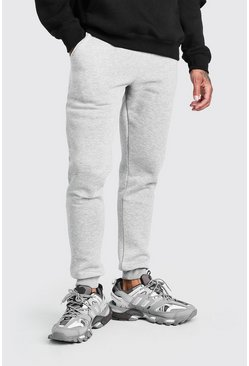 Grey Basic Skinny Fit Joggers