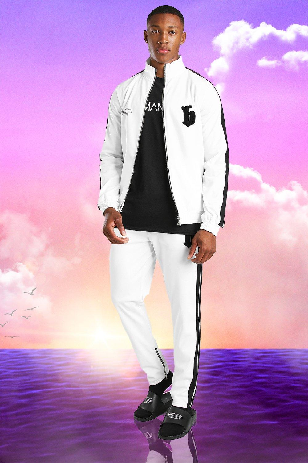 Burna Boy Slim Fit Tricot Tape Funnel Tracksuit