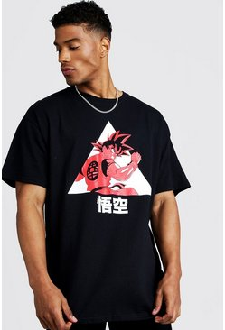 Oversized Dragon Ball Z License T-Shirt, Black, HOMBRE