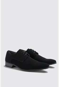 Herr Black Faux Suede Smart Shoes