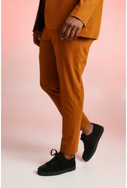 Mens Mustard Big & Tall Skinny Fit Suit Trouser