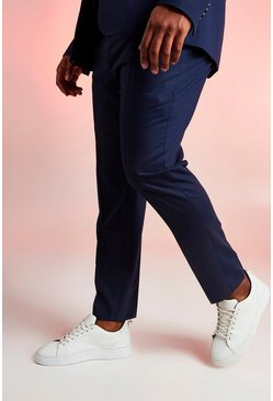 Navy Big & Tall Skinny Fit Suit Trouser