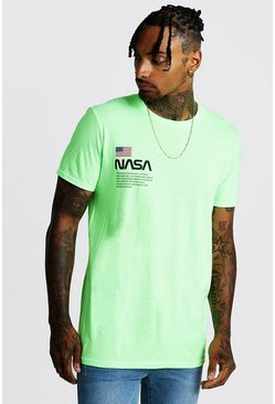 Neon-green NASA Print T-Shirt