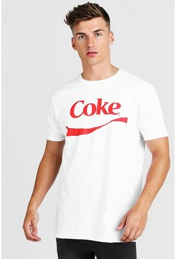 T-shirt Coca-Cola officiel, Blanc, Homme