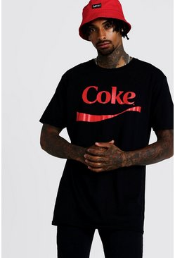 Mens Black Coke License T-Shirt