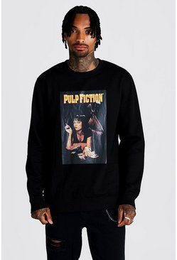 Herr Black Pulp Fiction MIA Licensed Oversized Sweater