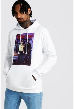Mens White Boyz In The Hood Hoodie