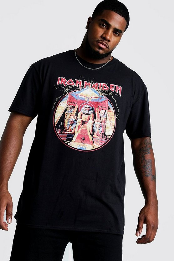 Black Big and Tall Iron Maiden License T-Shirt