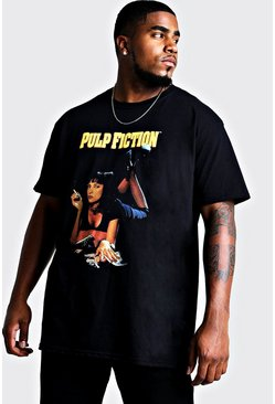 Mens Black Big and Tall Pulp Fiction Mia License T-Shirt